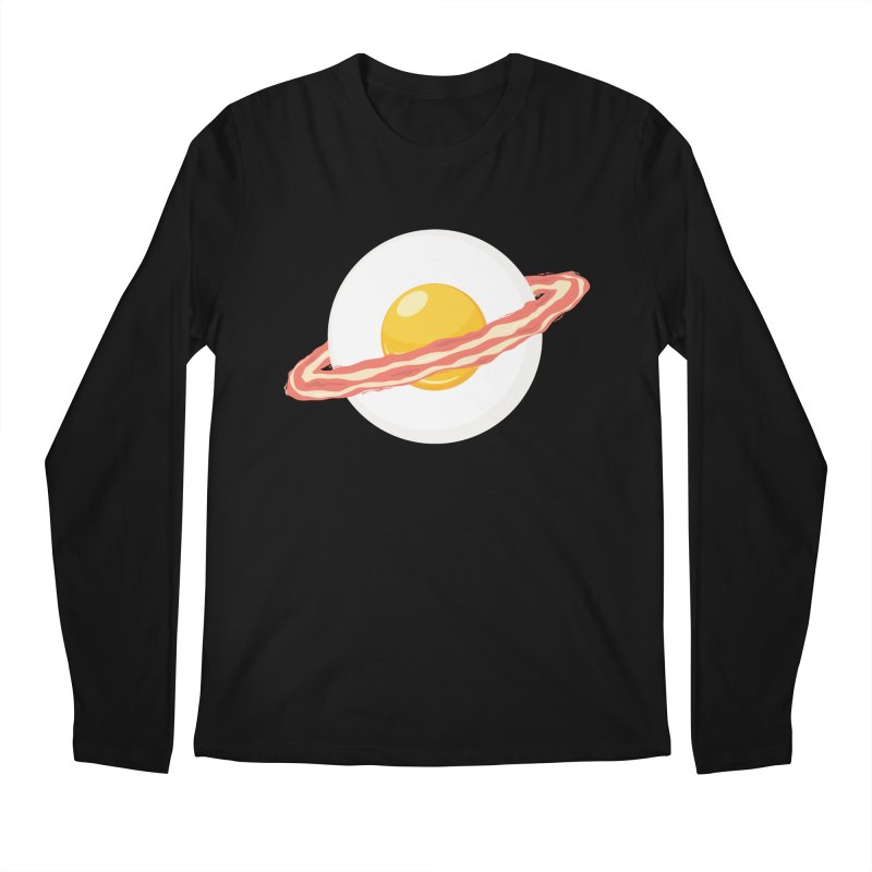 Outer space breakfast Men's Regular Longsleeve T-Shirt by YANMOS