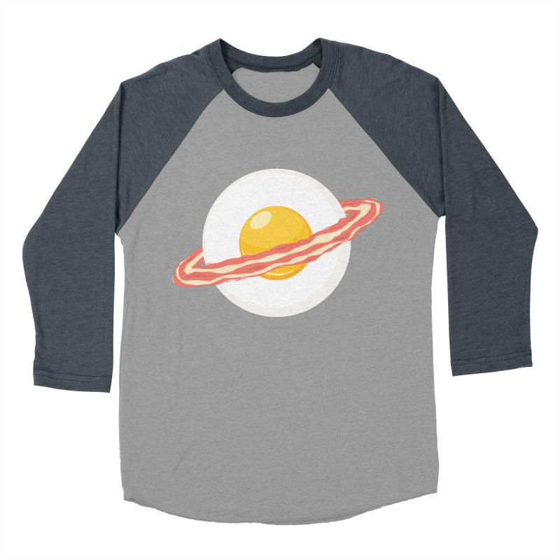 Outer space breakfast Women's Baseball Triblend Longsleeve T-Shirt by YANMOS