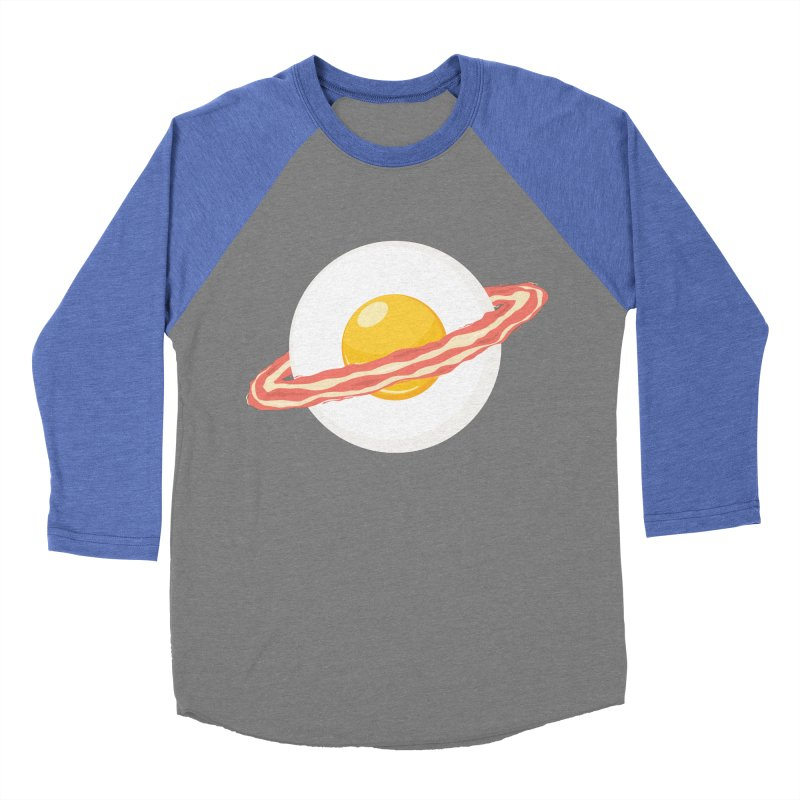 Outer space breakfast Men's Baseball Triblend Longsleeve T-Shirt by YANMOS