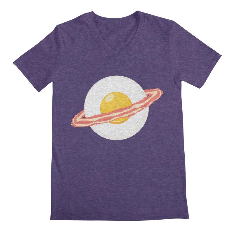 Outer space breakfast Men's Regular V-Neck by YANMOS