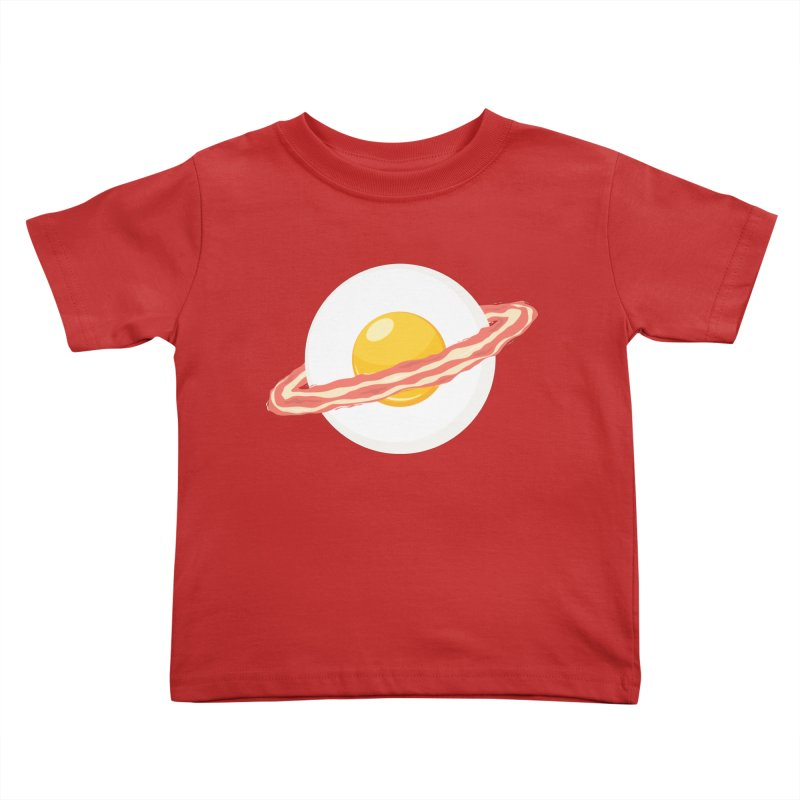Outer space breakfast Kids Toddler T-Shirt by YANMOS