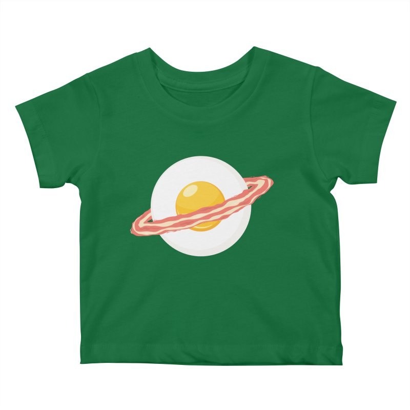 Outer space breakfast Kids Baby T-Shirt by YANMOS