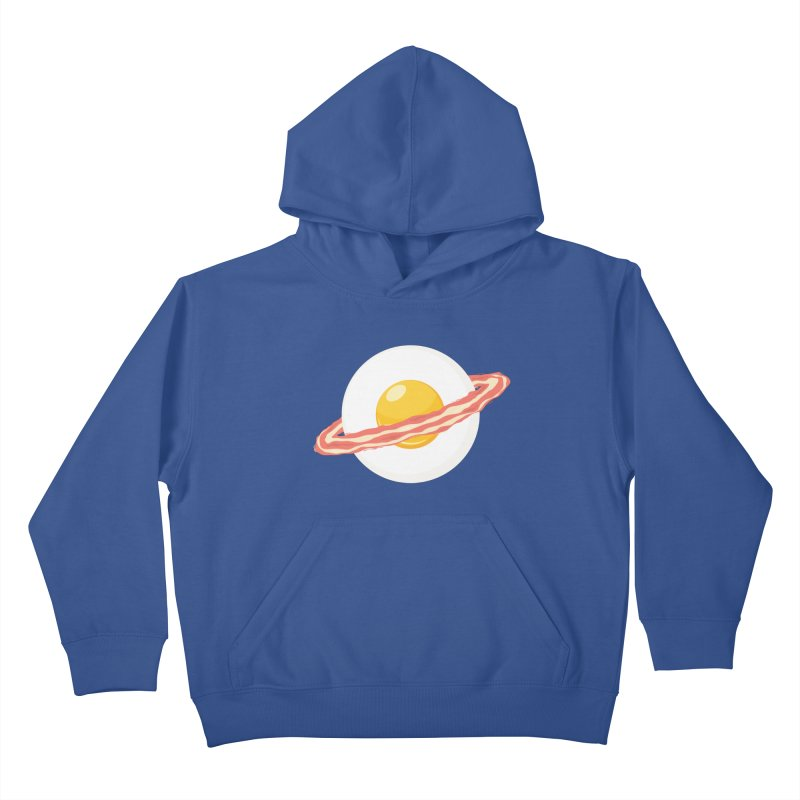 Outer space breakfast Kids Pullover Hoody by YANMOS