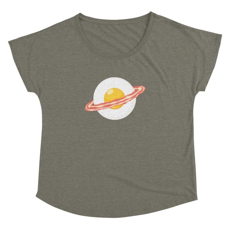 Outer space breakfast Women's Dolman Scoop Neck by YANMOS