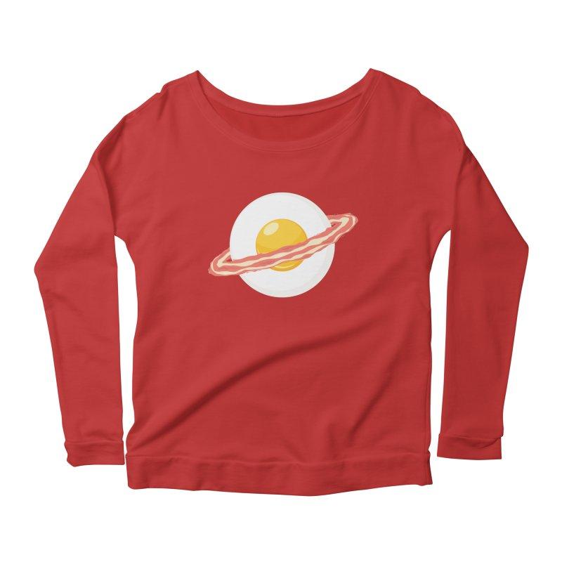 Outer space breakfast Women's Scoop Neck Longsleeve T-Shirt by YANMOS