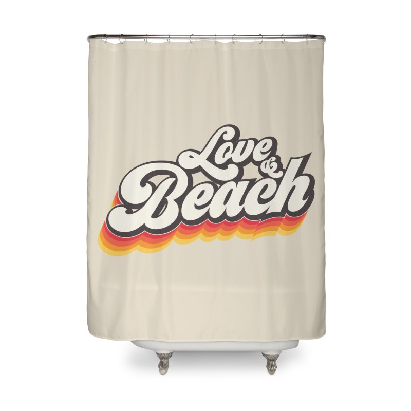 Love & Beach Home Shower Curtain by YANMOS