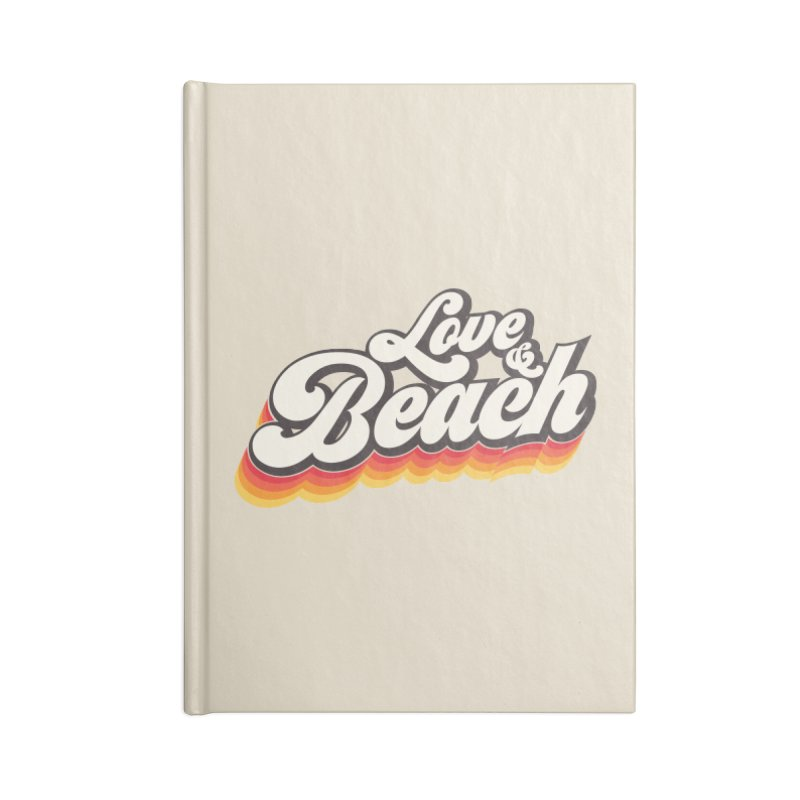 Love & Beach Accessories Lined Journal Notebook by YANMOS