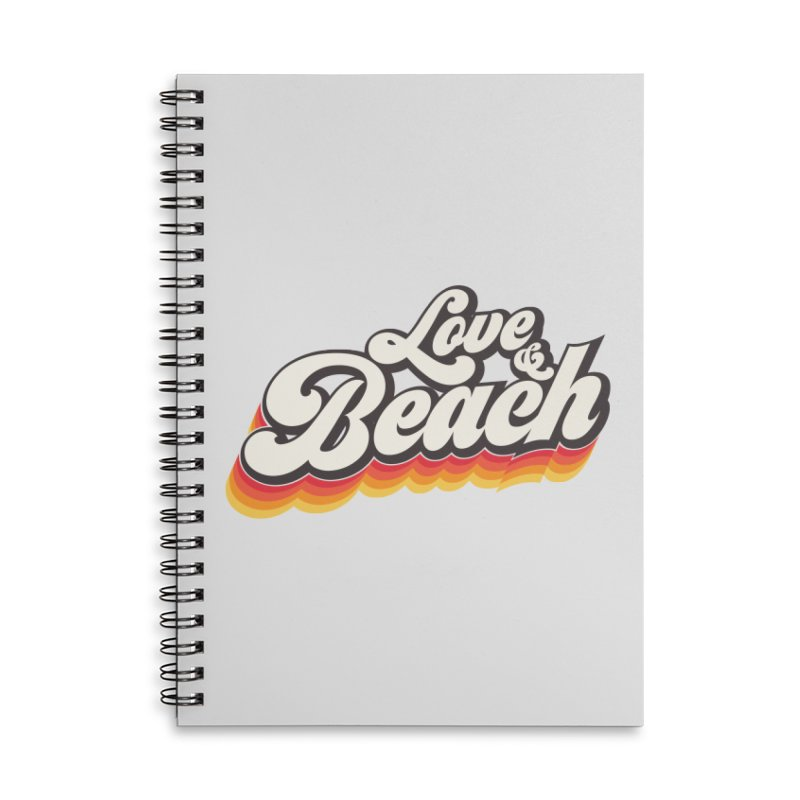 Love & Beach Accessories Lined Spiral Notebook by YANMOS