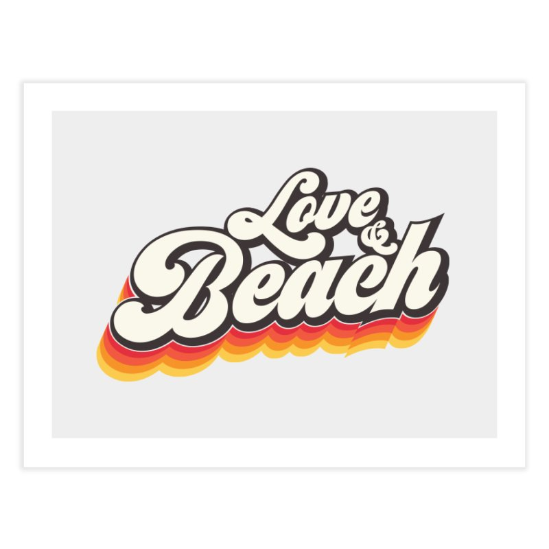 Love & Beach Home Fine Art Print by YANMOS