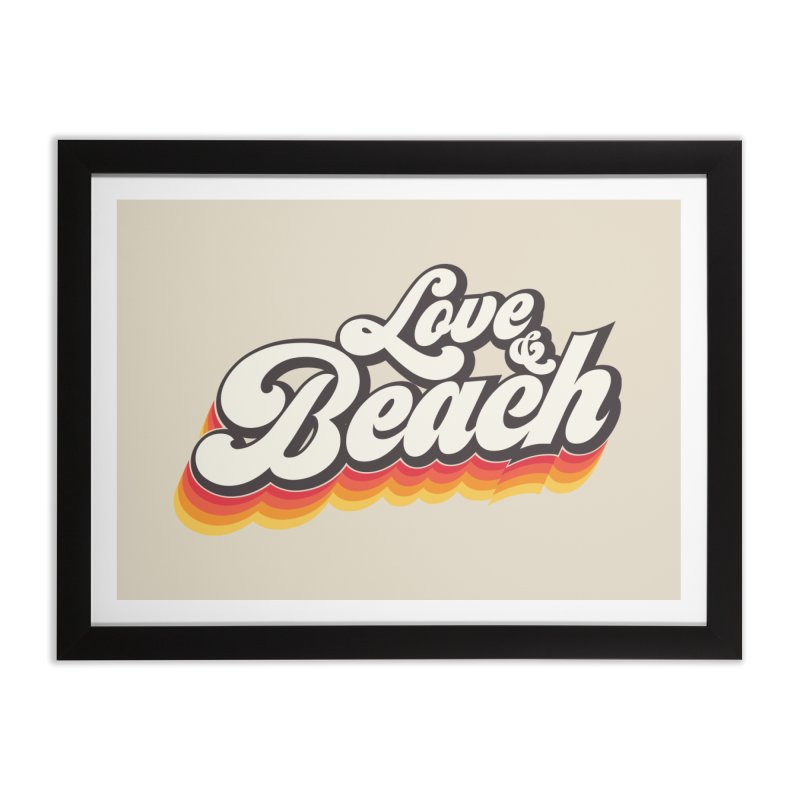 Love & Beach Home Framed Fine Art Print by YANMOS