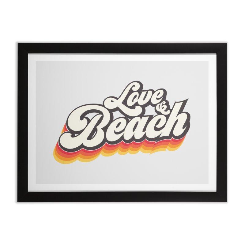 Love & Beach Home Framed Fine Art Print by YANMOS