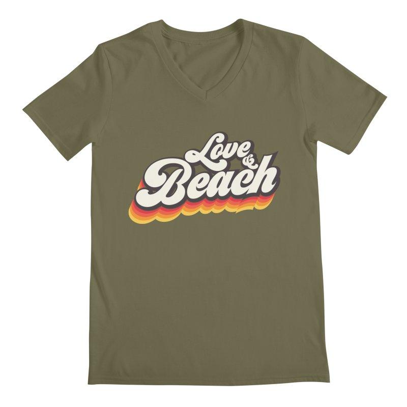Love & Beach Men's Regular V-Neck by YANMOS