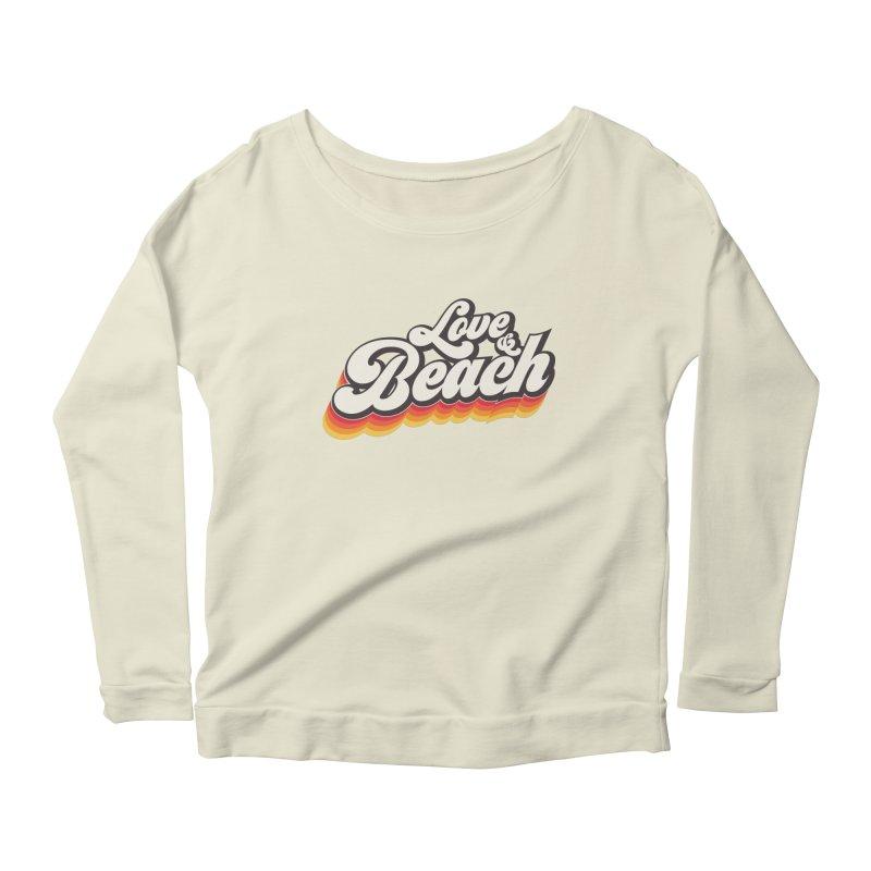 Love & Beach Women's Scoop Neck Longsleeve T-Shirt by YANMOS