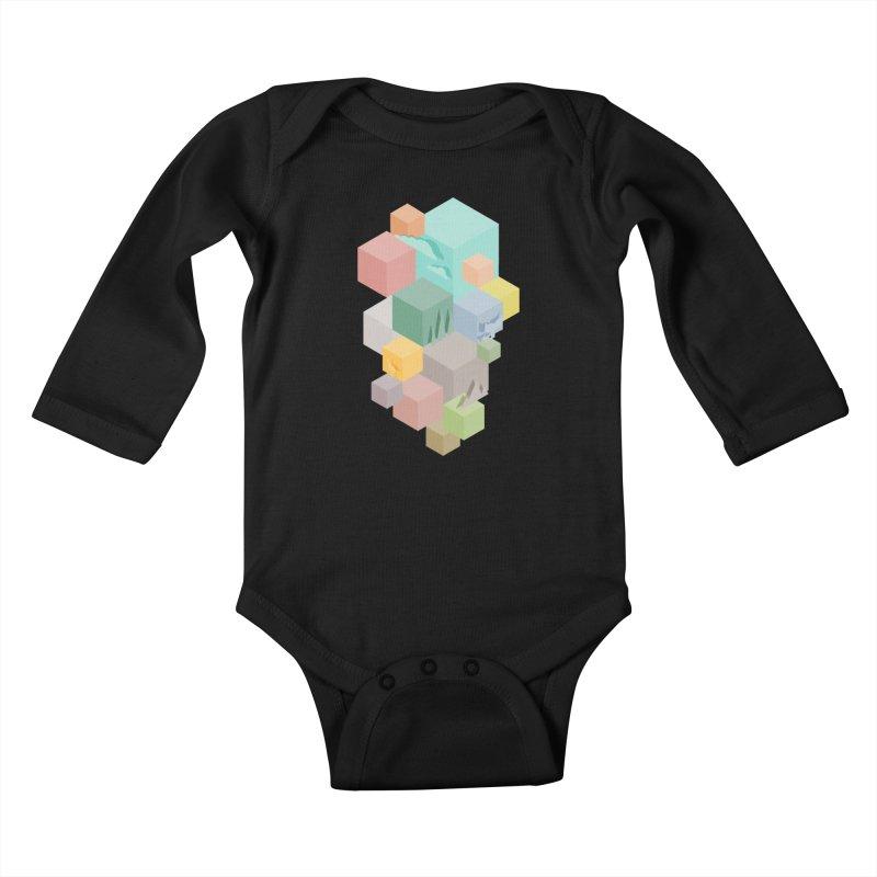 Natural habitat Kids Baby Longsleeve Bodysuit by YANMOS