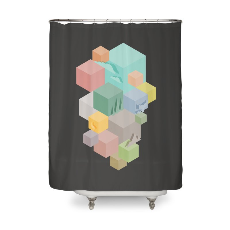 Natural habitat Home Shower Curtain by YANMOS