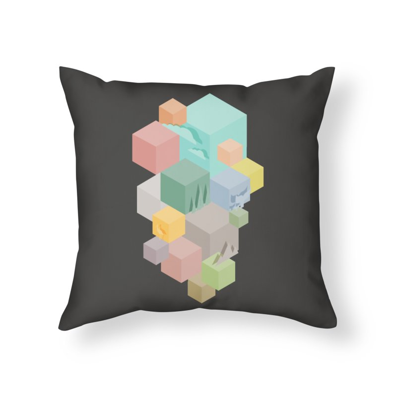 Natural habitat Home Throw Pillow by YANMOS