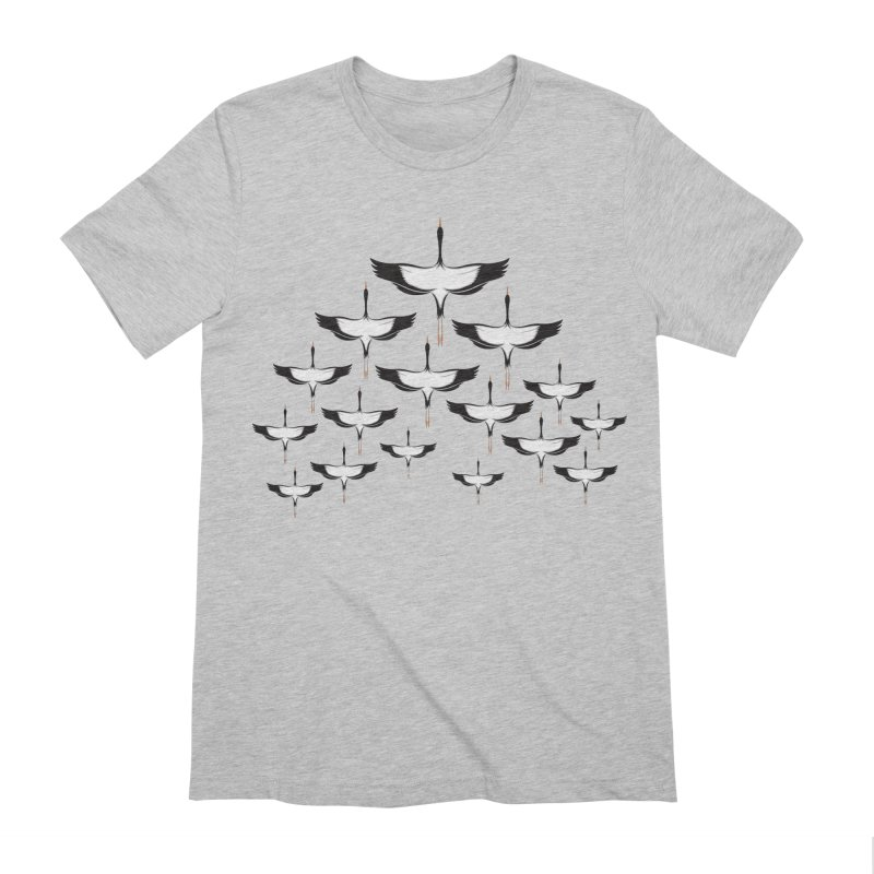 Chevron in Men's Extra Soft T-Shirt Heather Grey by YANMOS