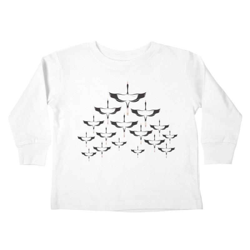 Chevron Kids Toddler Longsleeve T-Shirt by YANMOS