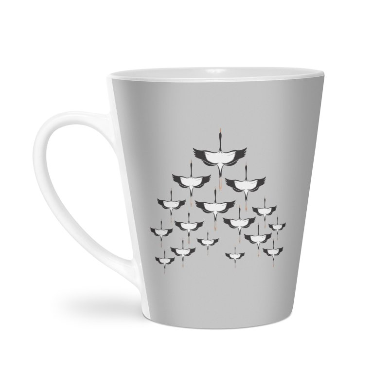 Chevron Accessories Latte Mug by YANMOS