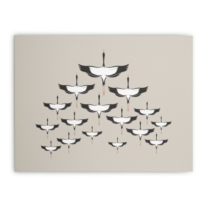 Chevron Home Stretched Canvas by YANMOS