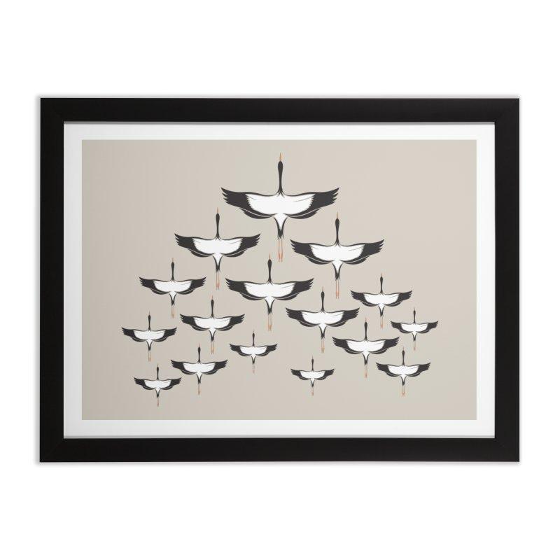 Chevron Home Framed Fine Art Print by YANMOS