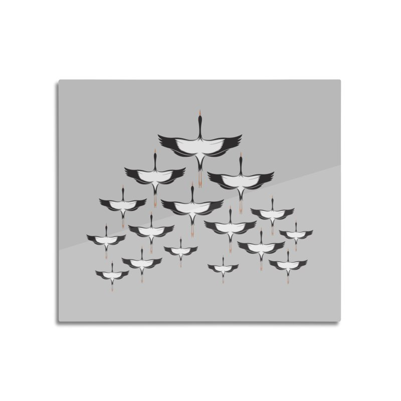 Chevron Home Mounted Aluminum Print by YANMOS