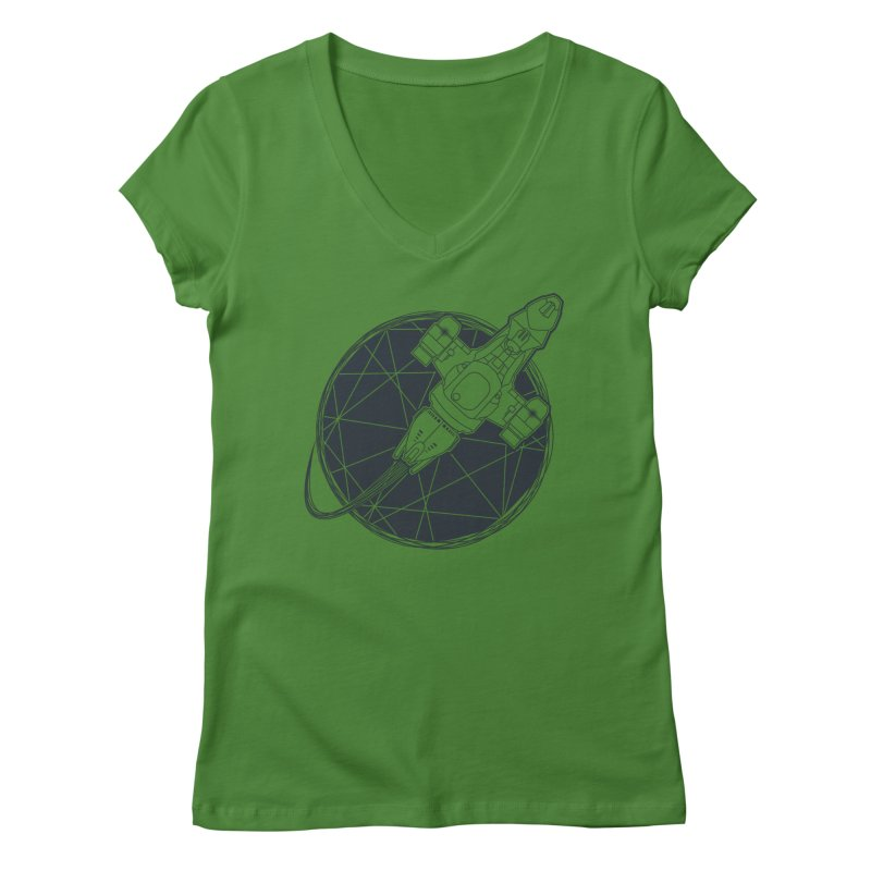 Shining star Women's V-Neck by Yanmos's Artist Shop