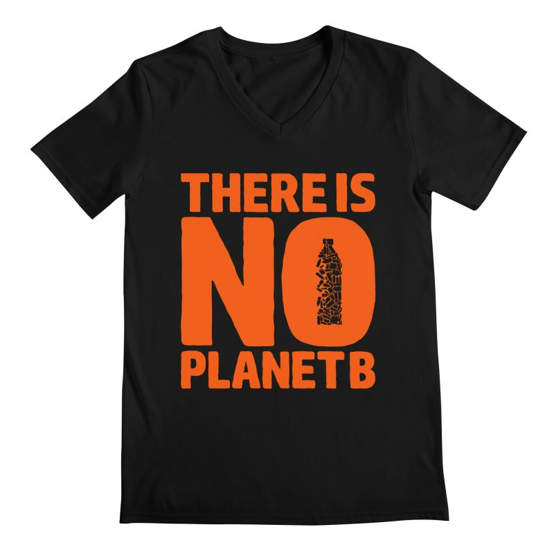 No Planet B Men's Regular V-Neck by YANMOS
