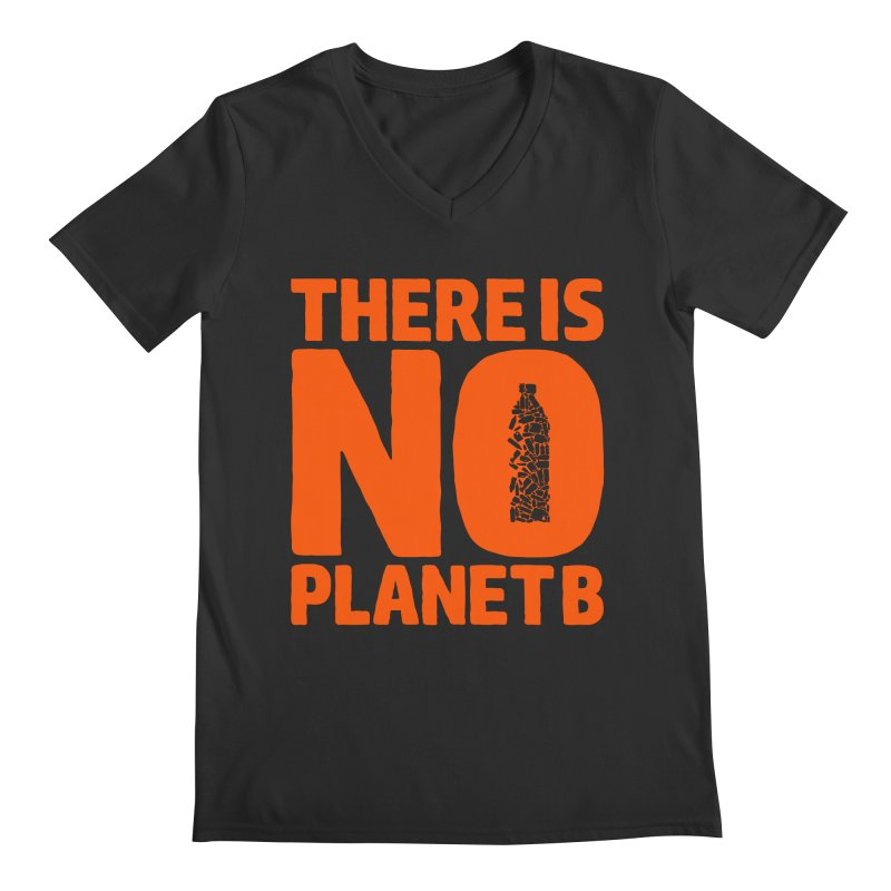 No Planet B Men's Regular V-Neck by YANMOS