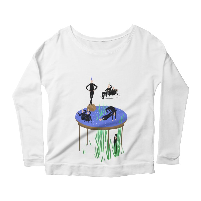 human stilllife 2 Women's Longsleeve Scoopneck  by yannachinz's Artist Shop