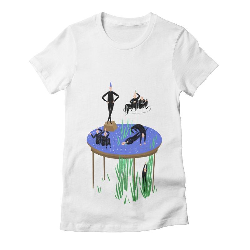 human stilllife 2 Women's Fitted T-Shirt by yannachinz's Artist Shop