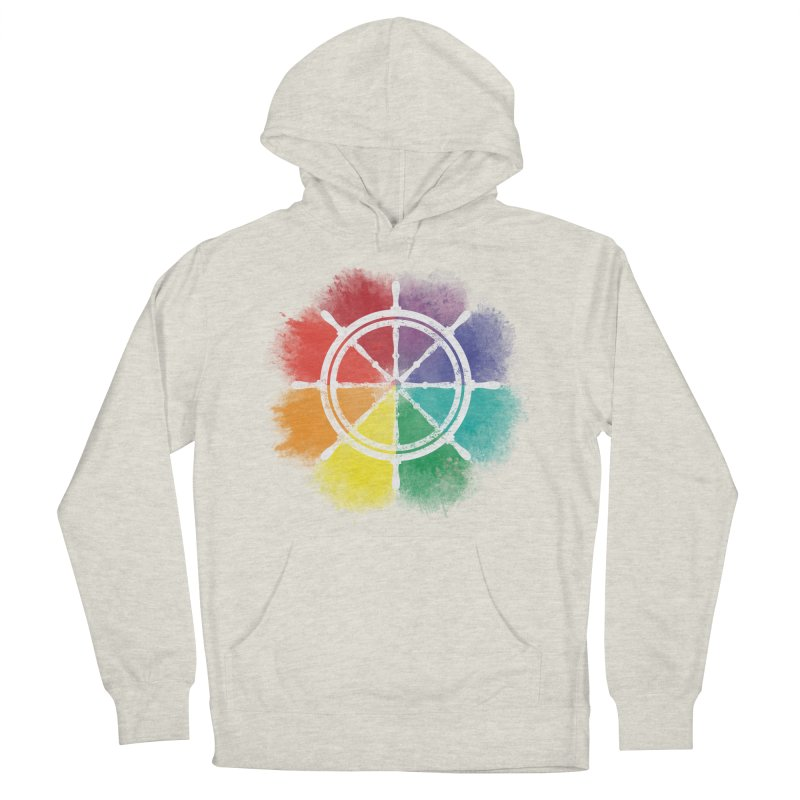 Color Wheel Women's French Terry Pullover Hoody by Yargyle's Artist Shop