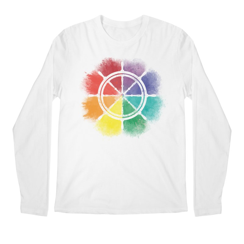 Color Wheel Men's Regular Longsleeve T-Shirt by Yargyle's Artist Shop