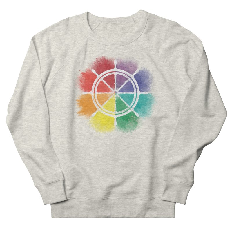 Color Wheel Men's French Terry Sweatshirt by Yargyle's Artist Shop
