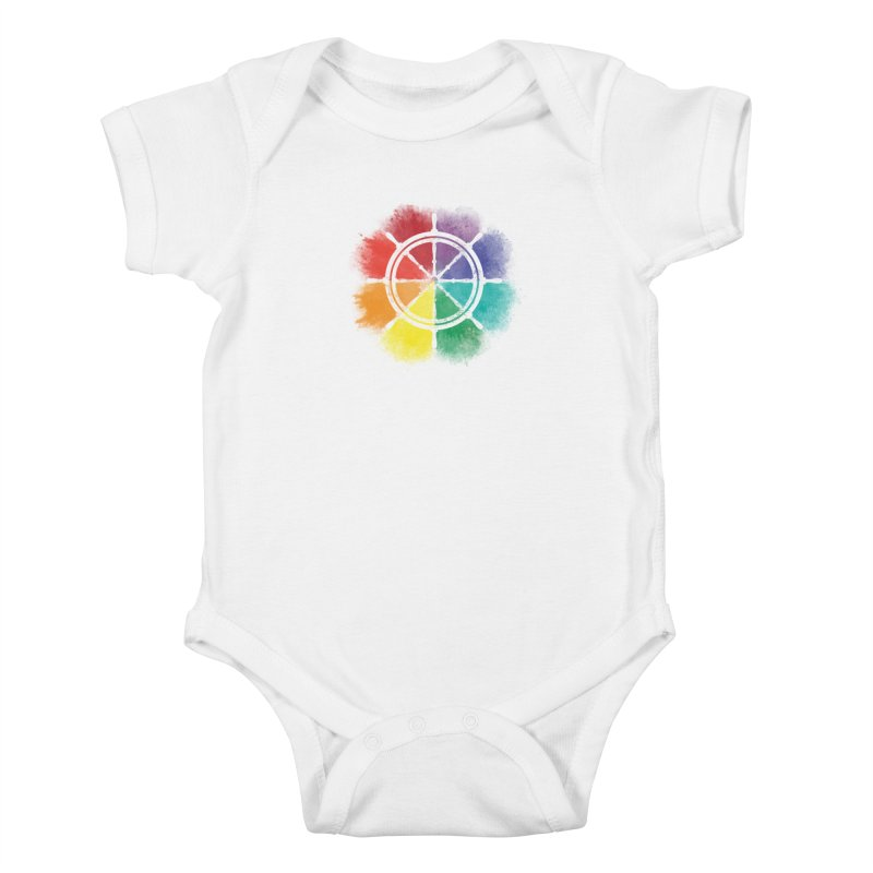 Color Wheel Kids Baby Bodysuit by Yargyle's Artist Shop