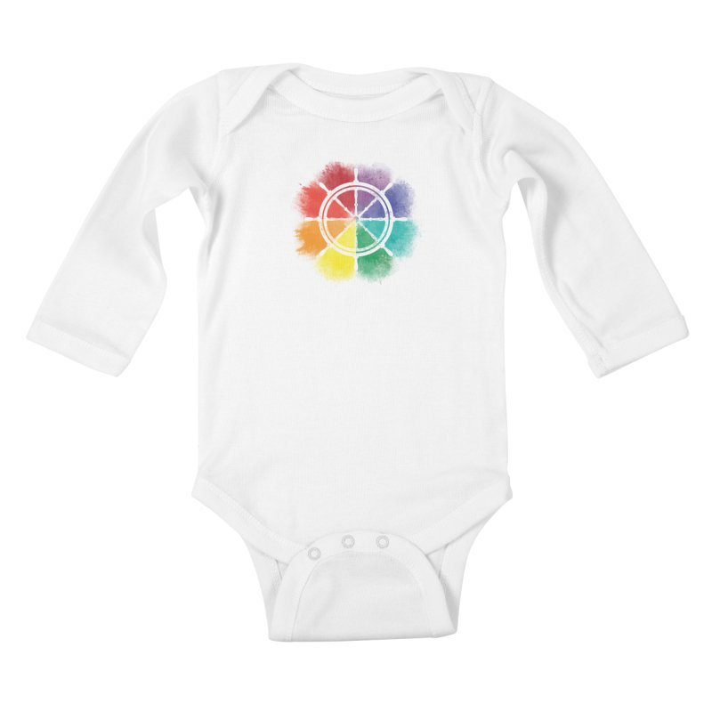 Color Wheel Kids Baby Longsleeve Bodysuit by Yargyle's Artist Shop