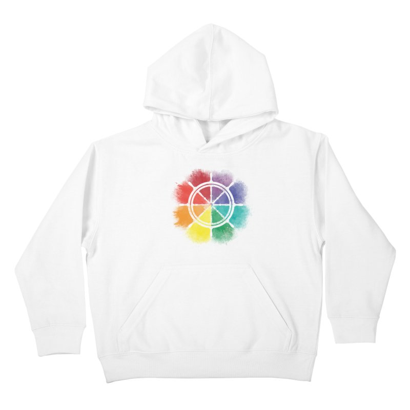 Color Wheel Kids Pullover Hoody by Yargyle's Artist Shop