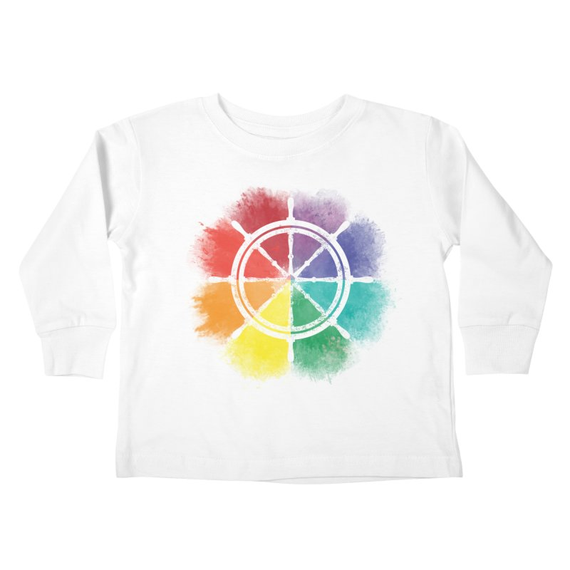 Color Wheel Kids Toddler Longsleeve T-Shirt by Yargyle's Artist Shop