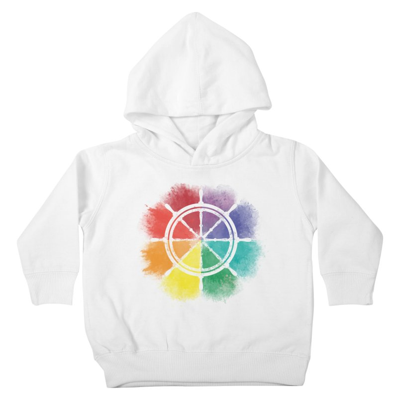 Color Wheel Kids Toddler Pullover Hoody by Yargyle's Artist Shop