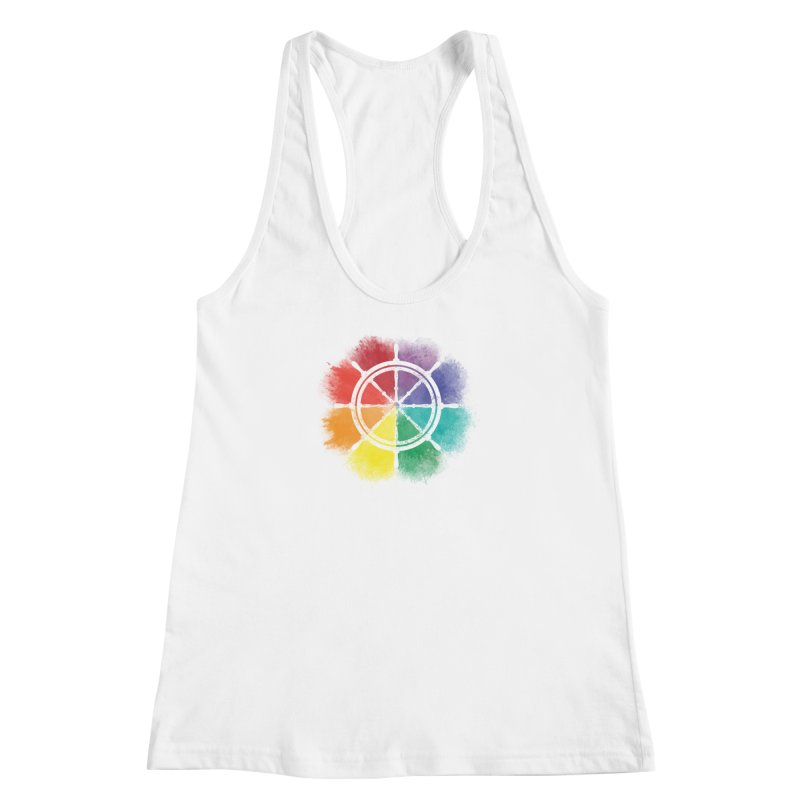 Color Wheel Women's Racerback Tank by Yargyle's Artist Shop