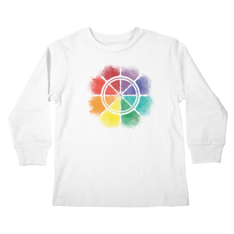 Color Wheel Kids Longsleeve T-Shirt by Yargyle's Artist Shop