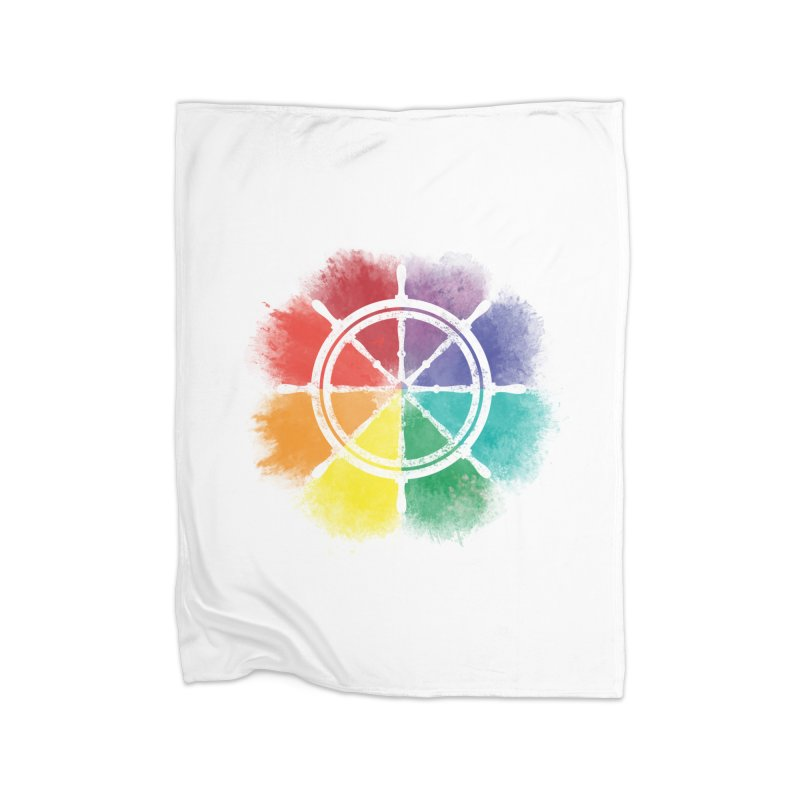 Color Wheel Home Blanket by Yargyle's Artist Shop