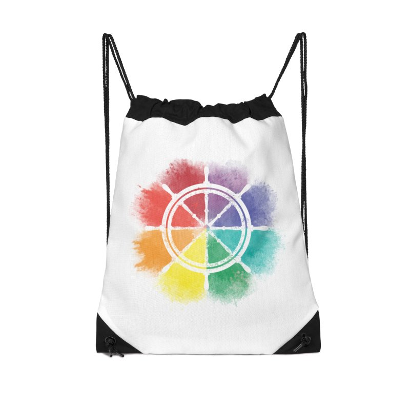 Color Wheel Accessories Drawstring Bag Bag by Yargyle's Artist Shop