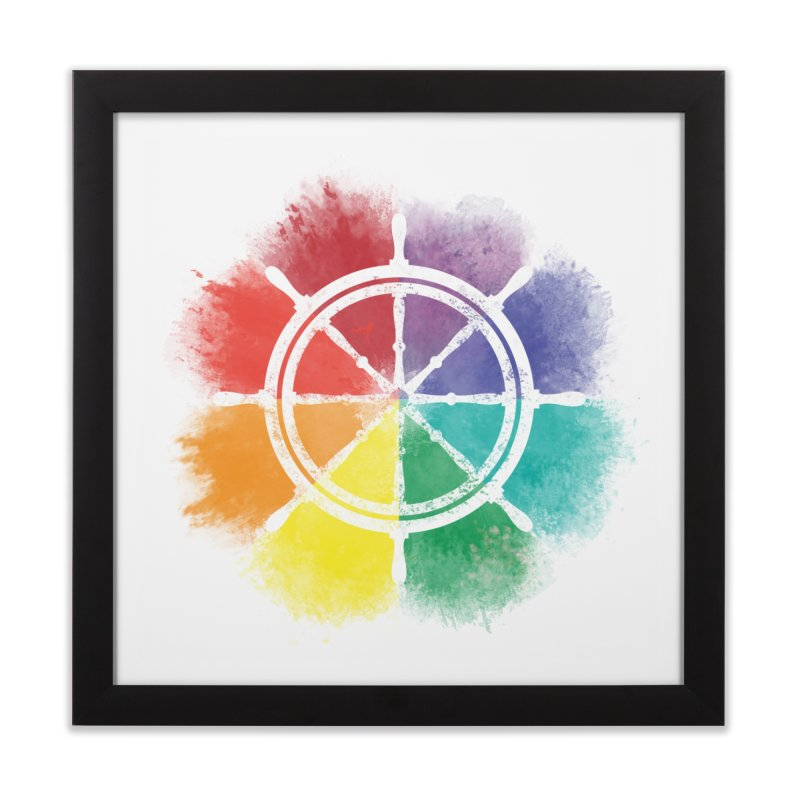 Color Wheel Home Framed Fine Art Print by Yargyle's Artist Shop