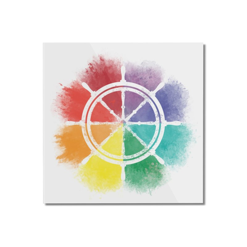 Color Wheel Home Mounted Acrylic Print by Yargyle's Artist Shop