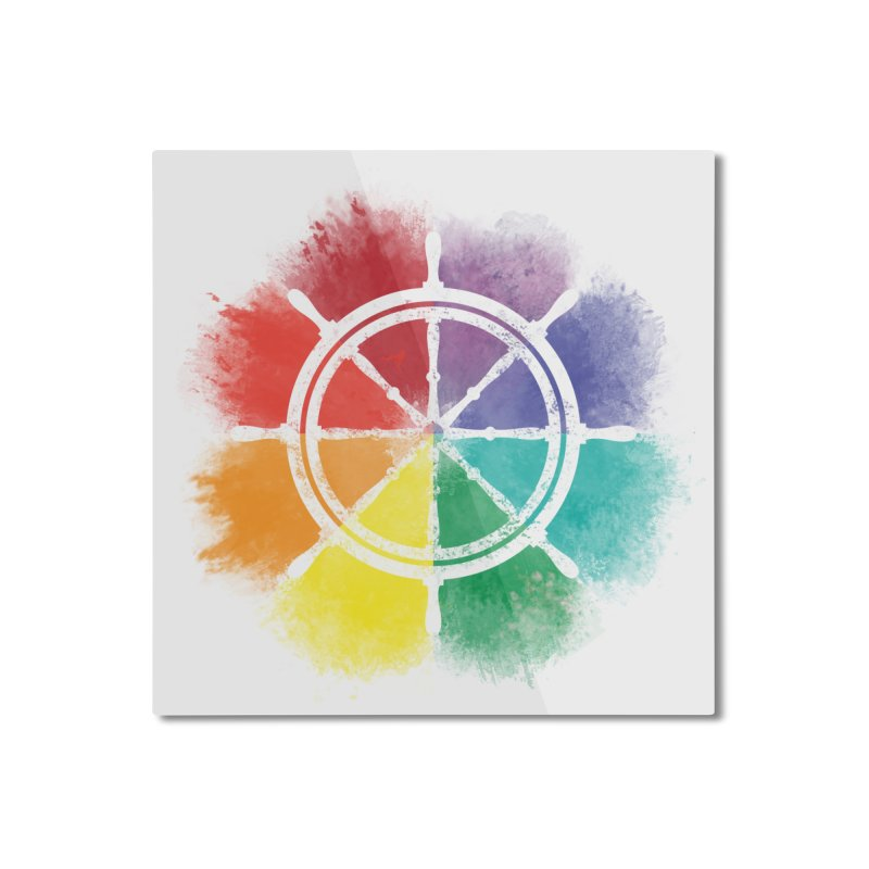 Color Wheel Home Mounted Aluminum Print by Yargyle's Artist Shop