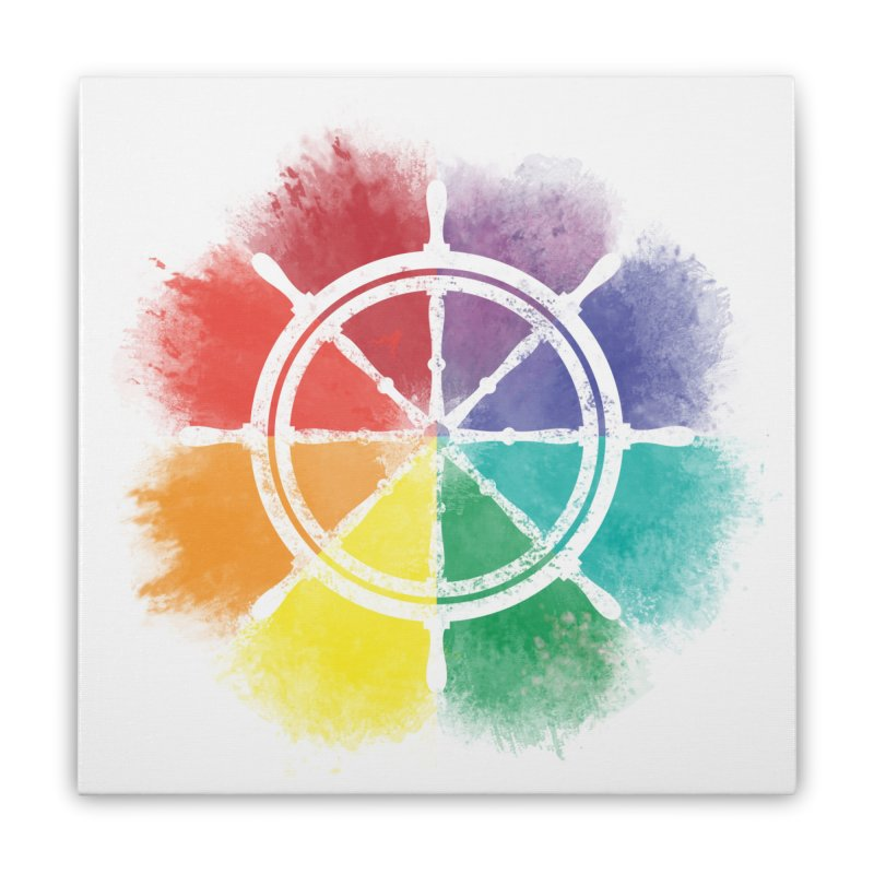 Color Wheel Home Stretched Canvas by Yargyle's Artist Shop