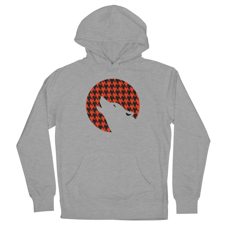 Howling Houndstooth Men's Pullover Hoody by Yargyle's Artist Shop