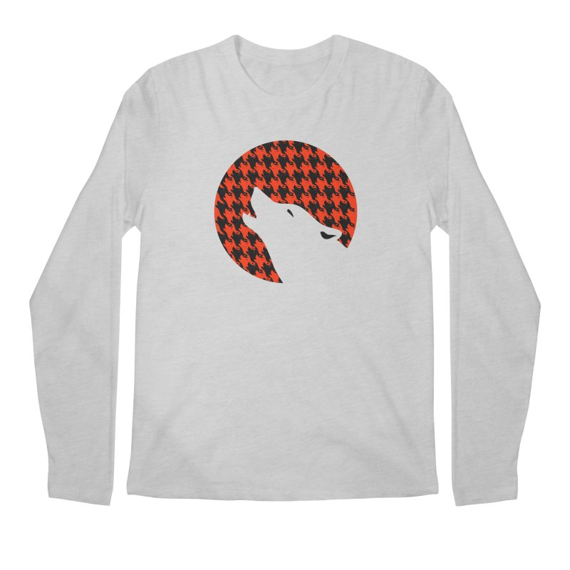 Howling Houndstooth Men's Regular Longsleeve T-Shirt by Yargyle's Artist Shop