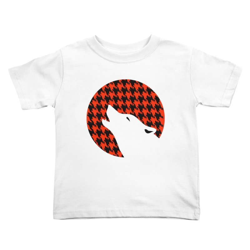 Howling Houndstooth Kids Toddler T-Shirt by Yargyle's Artist Shop